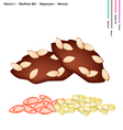 Almond Muffins with Vitamin E B2 and Minerals vector image vector image