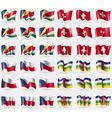 Seychelles Switzerland Czech Republic Central vector image