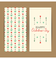 valentine greeting set vector image