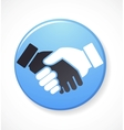 collection of handshake icons and elements vector image vector image