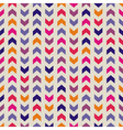 Aztec Chevron seamless colorful pattern background vector image