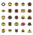 flat badges and ribbons vector image