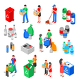 Garbage Recycling Elements Set vector image
