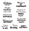 Happy birthday typography text isolated on white vector image