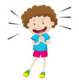 Little boy with curly hair vector image