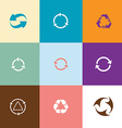 Recycle symbols set vector image
