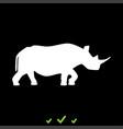 rhinoceros it is white icon vector image