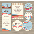 Set of retro wedding cards vector image