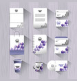 set stationary template with office documents vector image