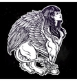 Sphinx beautiful ancient beast vector image