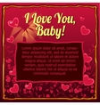 Valentines day card with space for your text vector image