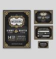 vintage luxurious wedding invitation vector image