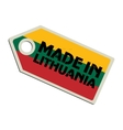 Made in Lithuania vector image vector image