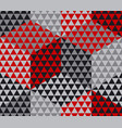 red and gray geometry hexagon seamless fabric vector image vector image