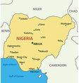 Federal Republic of Nigeria - map vector image