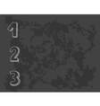 1 2 3 points on chalkboard vector image vector image