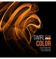 Abstract orange swirl background vector image