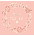 Floral card in pink colors vector image vector image