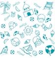 Beach doodle art for kids vector image