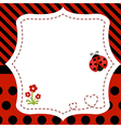 Greeting card with ladybug vector image