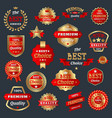 best choice and premium quality product badges vector image