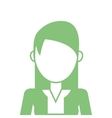 faceless woman with long hair icon vector image