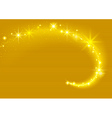 Gold Sparkling Stream Effect vector image