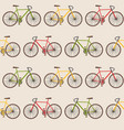 seamless pattern with bicycles vector image