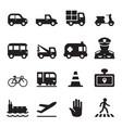 traffic icon set 2 vector image