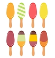 Colorful popsicles vector image