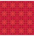 Red christmas background with seamless pattern vector image