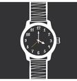 Hand Drawn Vintage Watch Design Element vector image