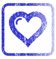 love heart framed textured icon vector image