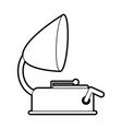 sketch silhouette image old gramophone musical vector image