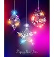 Happy new year 2015 elegant lights card vector image