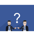 Business cooperation vector image vector image