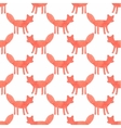 Watercolor seamless pattern with foxes on the vector image