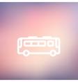 Bus thin line icon vector image