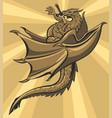 brown slain dragon vector image