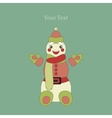 Cute Happy Snowman vector image