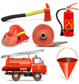 Fire Prevention Icons vector image