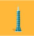 lasting taipei 101-story skyscraper in taiwan vector image