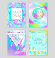modern trendy neon template for your design vector image