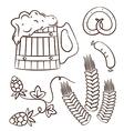 Octoberfest cartoon design elements 1 vector image