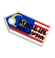 Made in Malaysia vector image