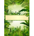 tropical background frame vector image