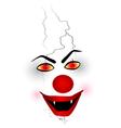 Scary Face Clown vector image