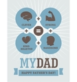 Fathers Day creative design vector image