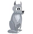 cartoon character wolf vector image
