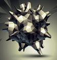 3D modern stylish abstract construction origami vector image